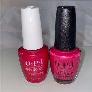 OPI Gel & Lacquer Combo - California Raspberry